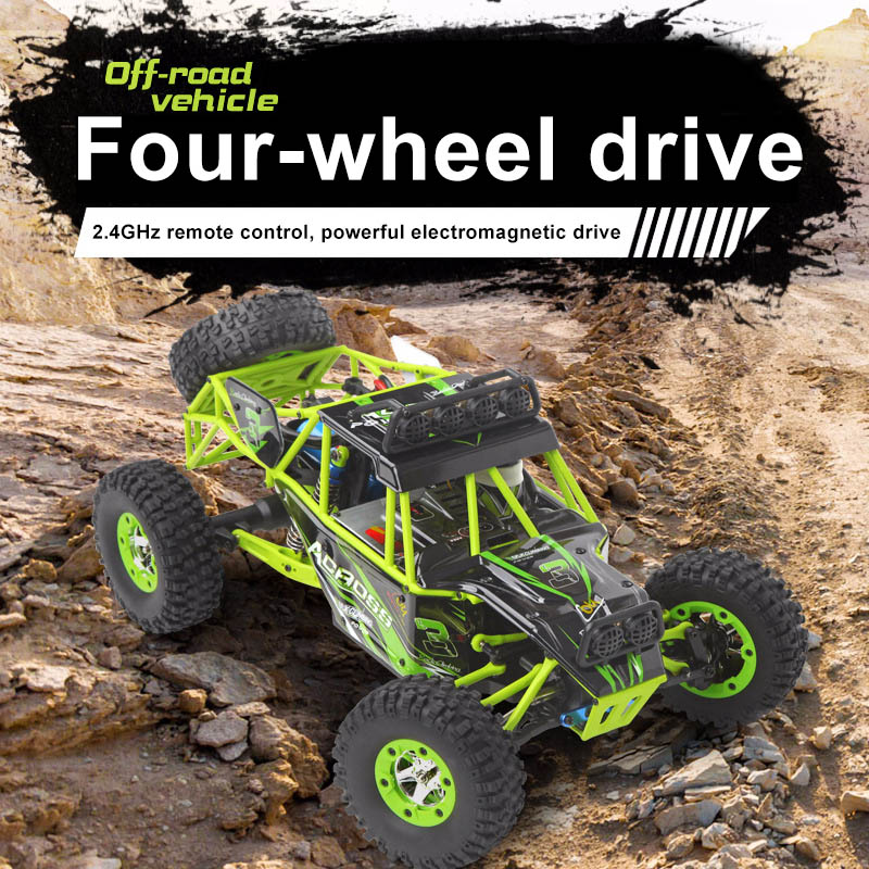 RC Car 1 12 2 4G 4WD Remote Control Cars 50KM H High Speed Climbing Off road Car Toy YJS Dropship in RC Cars from Toys Hobbies