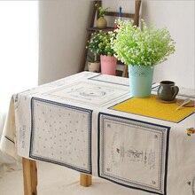 Eurpoe Stil Baumwolle Leinen rechteckigen Hochzeit Tischtuch Food Cafe Petty Tischdecke Cartoon Gedruckt Tischdecken hohe Qualität