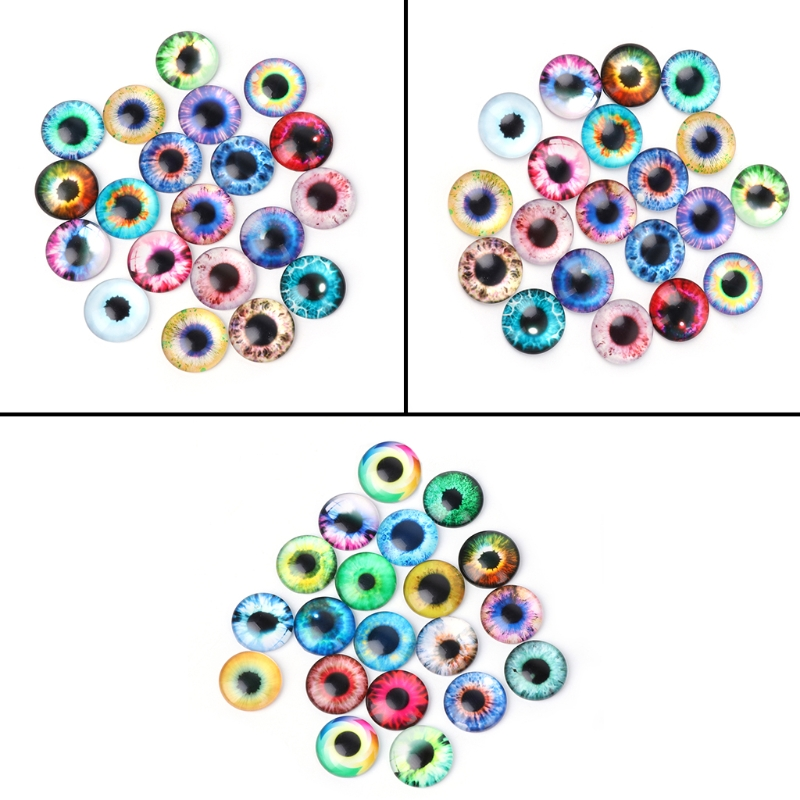 20 PCS Glass Dolls Eye DIY Handcraft Animal Eyes Jewelry Accessories 10/16/20 mm animal dolls complete diy kit assorted