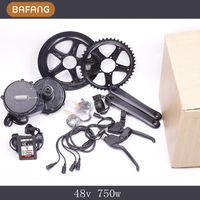 New Colorful Display 48v 750w 8fun Bafang Motor BBS02 Latest Controller Crank Motor Eletric Bicycles Trike