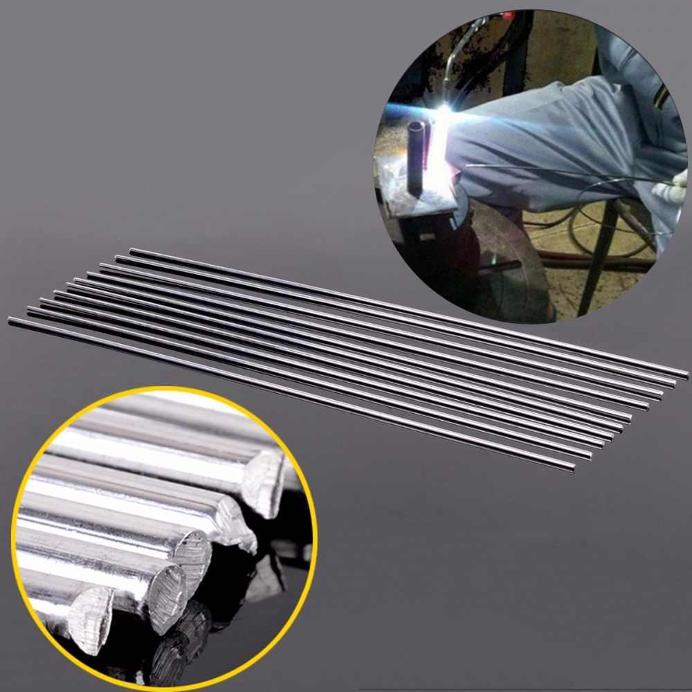 10 hastes de soldadura de solda de alumínio do tig dos pces com resistência de corrosão 3.2mm x 450mm