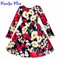 Sale Brand Baby Girl Dress Winter Long Sleeves 2016 Thicken Warm Girls Autumn Dresses Party Wedding Christmas 10 Years Zk020916