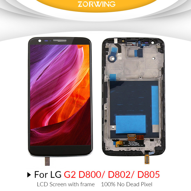 US $21 38 5% OFF Grade AAA LCD Display For LG G2 D802 D805 Screen  Replacement With Digitizer Touch Screen Assembly for LG G2 D802 LCD D800  D803-in