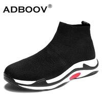 ADBOOV Mens Socks Shoes Hot Sale New Arrival Fashion Spring Autumn Slip On Cloth Shoes Brand