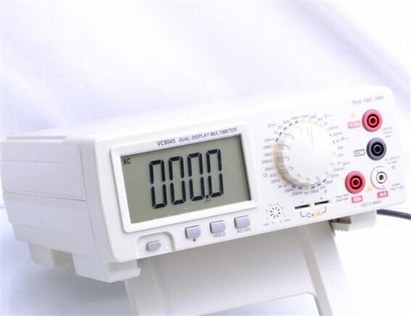 1pcs/lot Digital Multimeter VICHY VC8045 Bench Top 4 1/2 True RMS DCV/ACV/DCA/ACA DKTD012 victor vc9808 3 1 2 digital multimeter dcv acv dca r c l f