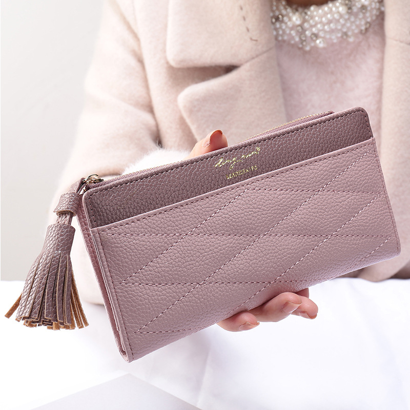Fashion 2018 Womens Wallets and Purses Long Wallet Large Women Purse Female Tassel Zipper Card Holder Coin Bag for Phone Leather блокнот для эскизов и набросков sketches а4 120 л портрет пружина сверху бл 4576