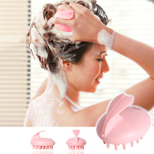 1 PC Soft Brush Relax Massager Head Hair Held SPA Scalp Neck Stress Release Head Physician Shampoo Massage Relaxation usb electric head scalp massager brain relaxation relax spa massager stress relieve prevent hair loss health care massage tools