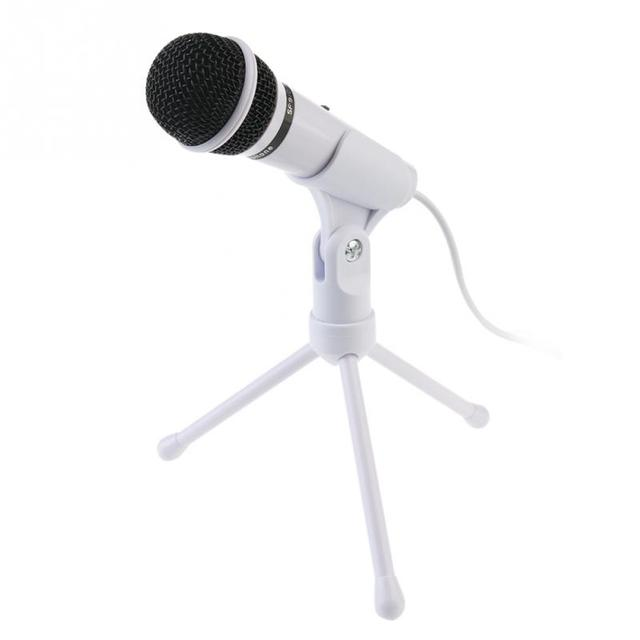 3.5mm Plug Professional Condenser Recording Microphone PC Laptop and Most Smartphones Stereo Mic for Chatting Singing