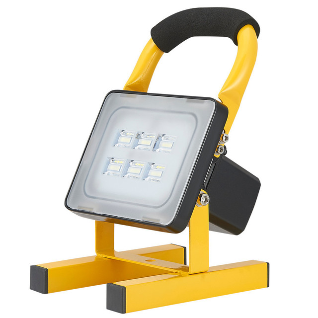Kaigelin Rechargable Flood Light 20W 12V Outdoor Lighting Portable LED  Floodlight Connected To Car Or 220V