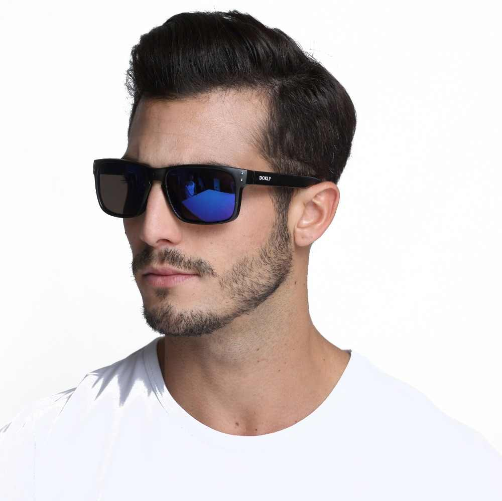 81cc0380032f Dokly brand men sunglasses women fashion sunglasses men Designer Helm  Multicolour Coating Lens Sunglasses Men Oculos