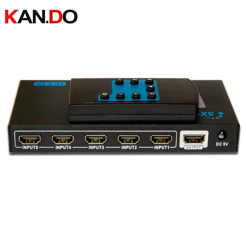 LKV501E 3D 4Kx2K 5x1 HDMI Switch With Remote Control HDMI Swicher HDMI Switch Hdmi Splitter