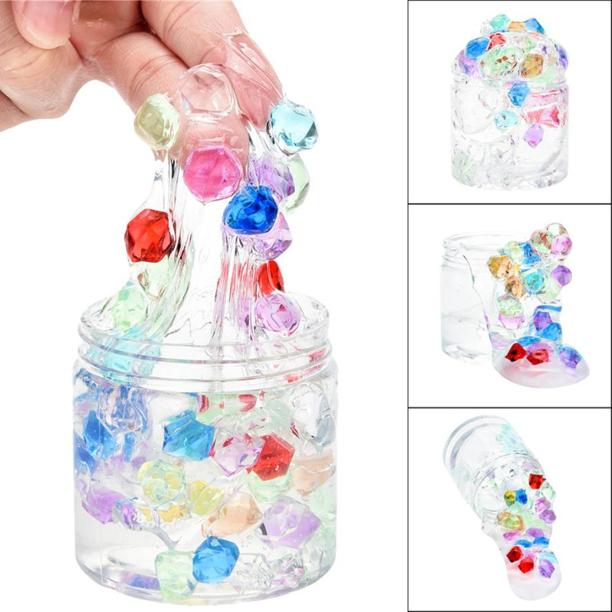 2018 Blowing Bubbles Crystal Squishy Putty Recude Stress Kid Clay Toy Kids Funny Toy Magnetic Mud Intelligent Plasticine Cherryb