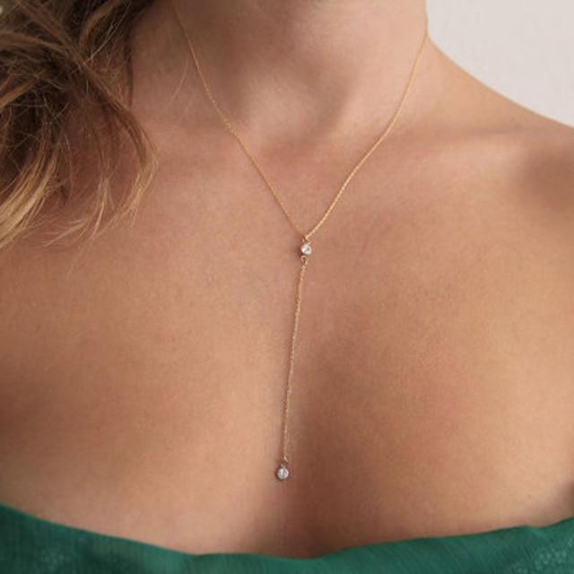 7c20a8bcf528 European and American retro Rhinestone charms long necklace Korea collares  largos gargantilla collares vintage mujer colar longo