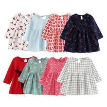 2019 vestidos de verano para niñas vestido princesa elegante a cuadros para niñas vestido estampado de flores 2 3 4 5 6 7 años niños no ropa