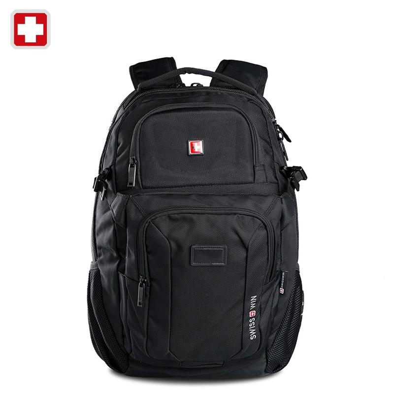 Swisswin swiss 2016 business laptop case 15.6 inch backpack men travel bags man casual bag for ipad sac courses mochila felt swisswin black business backpack sw9218 male swiss 15 6 computer swissgear wenger bag 23l mochila