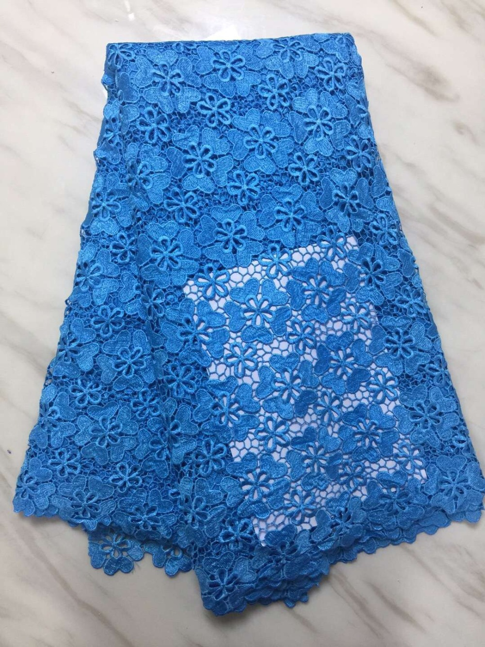 African lace fabric 5yds/pce dhl water soluble turquoise blue fabrics women party event luxury dresses 2019 new high qualityAfrican lace fabric 5yds/pce dhl water soluble turquoise blue fabrics women party event luxury dresses 2019 new high quality