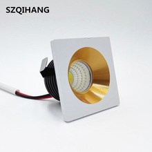3W 5W MINI Square High Power Dimmable LED Recessed Ceiling Down Light Lamps Downlights AC85-265V
