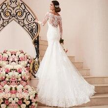 New Arrival Mermaid Wedding Dress Off The Shoulder Vestido De Novia Lace Vintage Bridal Dresses With Full Sleeves 2016