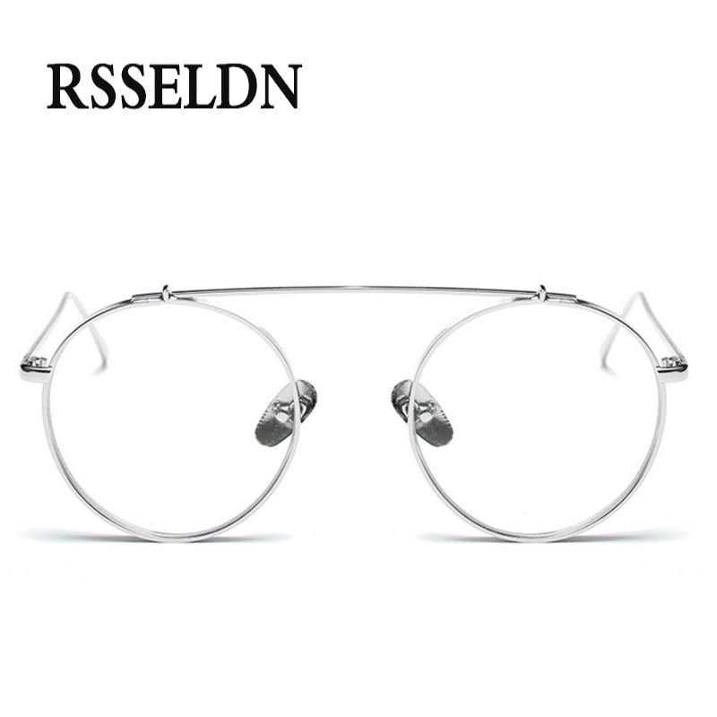 09dc19ed2b RSSELDN High Quality Round Glasses Frame Vintage Women Optical Eyeglasses  Clear Lens Retro Classic Glasses Eyewear Men oculos-in Eyewear Frames from  Apparel ...
