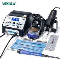 YIHUA 938D 938BD Soldering Irons Station High Power Soldering Tweezer Repair Rework 110V 220V Electric Solder