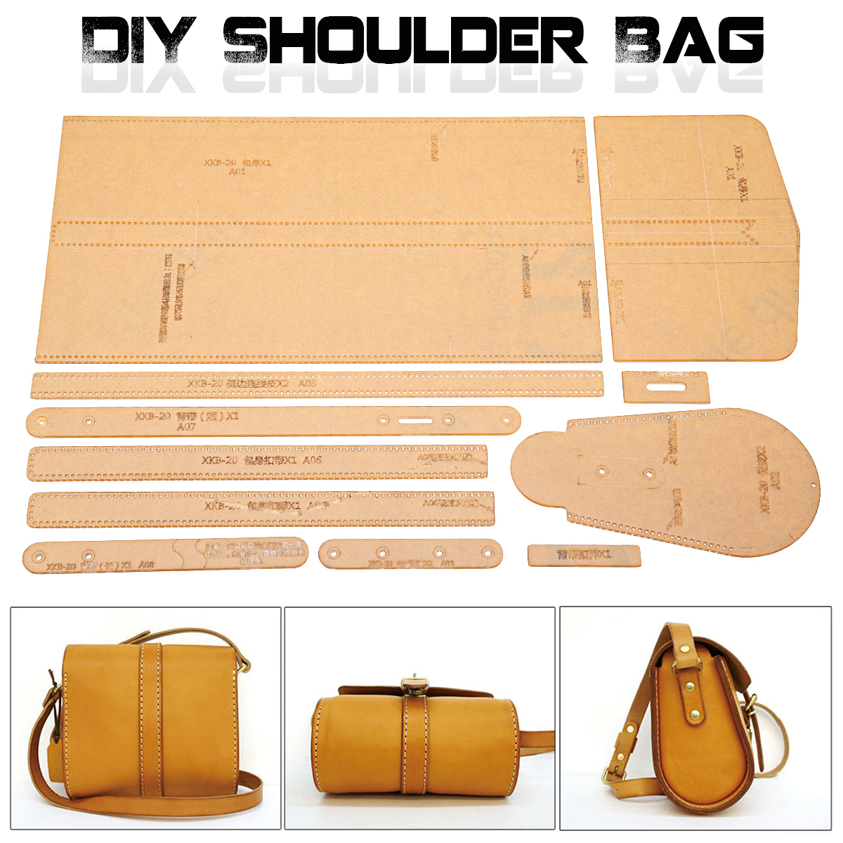 Acrylic Template Pattern For Lovely Shoulder Bag Soft Leather Craft Xkb 20 Diy Simple Style Stencil In Leathercraft Tool Sets From Home Garden