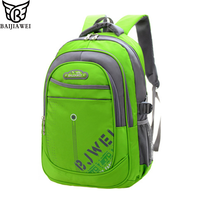 BAIJIAWEI Children Backpack In Primary School Backpacks Mochila Infantil Zip Waterproof Bag Children School Bags For Kids