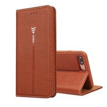 New Luxury Original Brand GEBEI Genuine Leather Flip Unique Magnet Design Stand Case Cover For iPhone 7 & 7 Plus