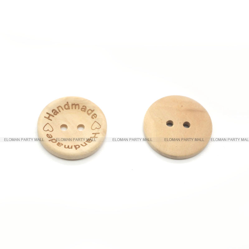 HTB1VmwTbZnI8KJjSspeq6AwIpXaO ELOMAN 50PCS/lot Natural Color Wooden Buttons handmade love Letter wood button craft DIY baby apparel accessories