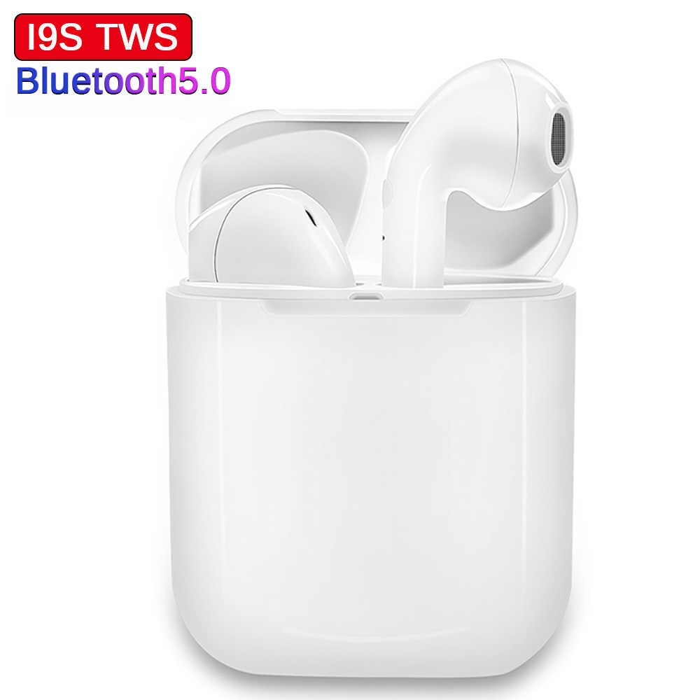 I9S TWS Wireless Earphone Portable 5.0 Bluetooth Headset Invisible Earbud for all smart phone i10 max tws