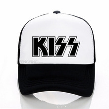 Hot Kiss Band Caps Men Women Rock Caps Cool Summer Baseball Caps Hot Rock Music Black Mesh Net Hat judas priest heavy metal band mesh cap summer fashion men women rock baseball caps rock music fans trucker hat letter casual hat