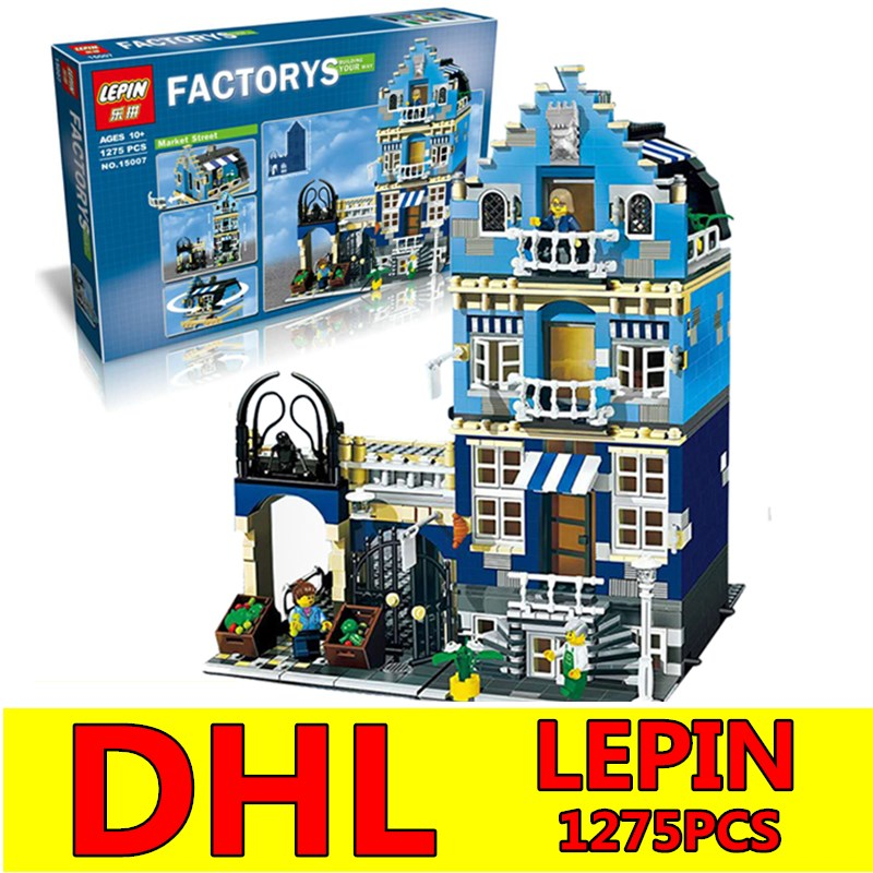 DHL City Street LEPIN Factory European Market Model Building Block Set Bricks Kits Compatible Children Toys Gift Educational Toy lepin 16008 4160pcs cinderella princess castle city model building block kid educational toys for gift compatible legoed 71040