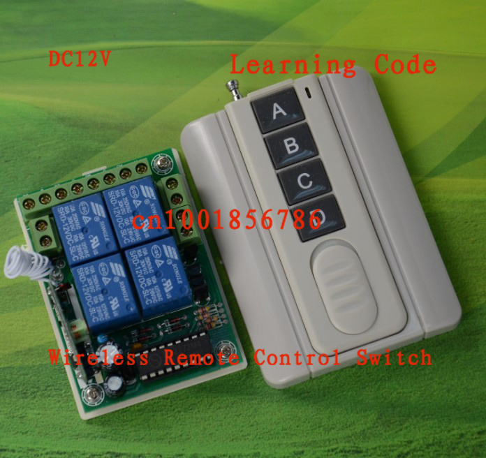 12V 4CH RF Wireless Remote Control Switch System For Garage Doors /Window / Auto Door Smart home controller /radio receiver wireless 315 433mhz 12v 4ch remote control switch receiver shell for door lock can control 4 doors up to 50m for door lock sl34
