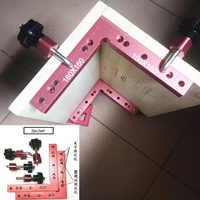 2 pc 90 Graus L-Em Forma de Painel placa de Emenda de Posicionamento Auxiliar de Fixação clipe Fixo carpenter Carpintaria Governante Quadrado ferramenta