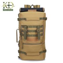 2018 Hot A ++ 50L Backpack Taktikal Ketenteraan Hiking Camping Daypack Bahu Beg Lelaki Hiking Rucksack belakang pek mochila feminina