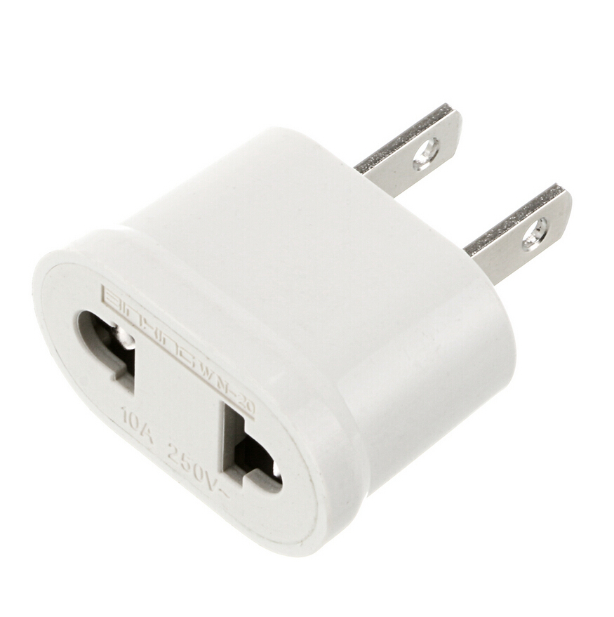 2pcs Lot White Plug Adaptor Eu To Us Converter Usa Travel Adapter Wall For Electric Iron Kettle Household In Parts From