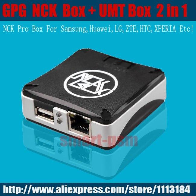 Le plus récent boîtier vesion NCK PRO + boîte UMT 2 en 1 pour LG, Alcatel, Samsung, Huawei et clignotant, réparation et déverrouillage du logiciel