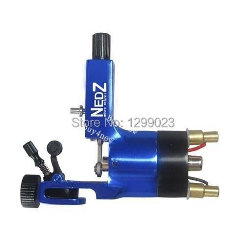 ФОТО High Quality Powered System NEDZ Rotary Tattoo Machine Blue tattoo gun liner & shader Free shippng hot sale
