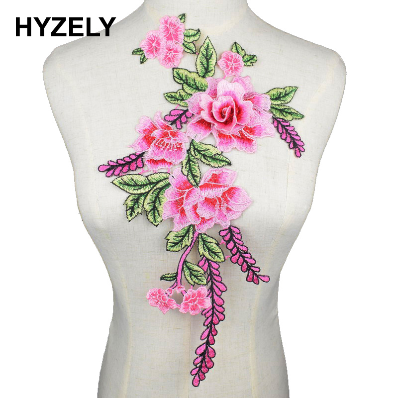 Trim Lace Clothes Patch Flower Neckline Dress Applique Embroidered Collar