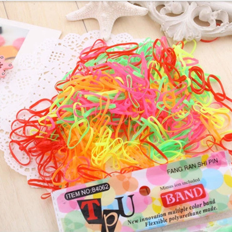 280pcs/pack Rubber Rope Ponytail Holder Elastic Hair Bands Ties Braids Plaits hair bands Hair Accessories TS006