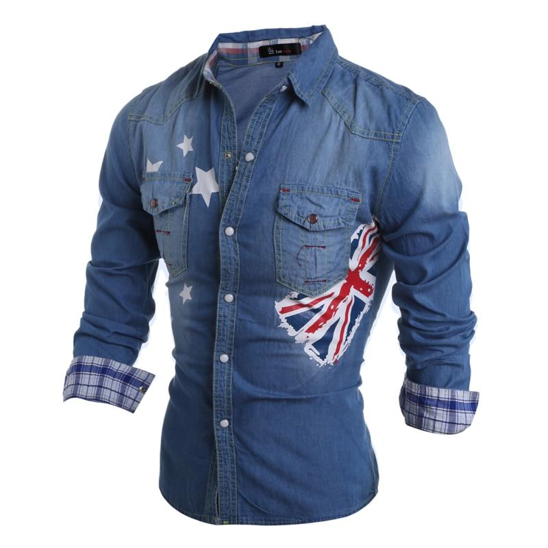 Aliexpress.com : Buy 2016 New Fashion Men Jeans Shirt Slim Fit ...