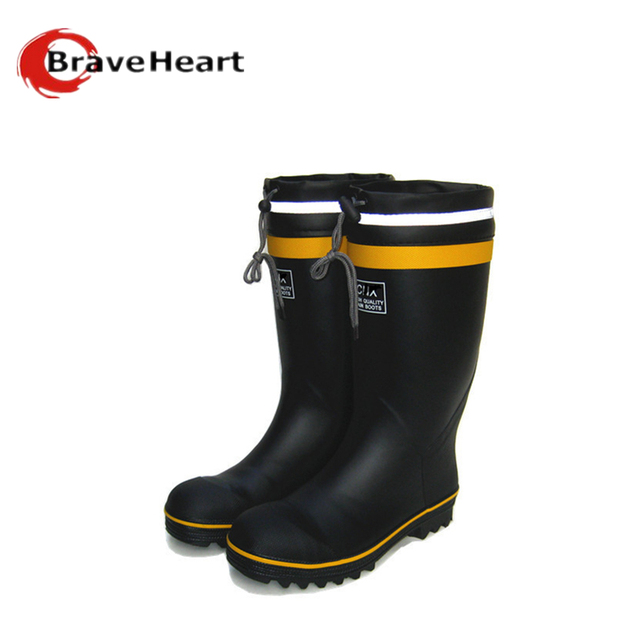 2016 al aire libre a prueba de agua zapatos masculinos de goma botas de lluvia de los hombres de color puro 37-44 más tamaño medias botas de pesca venta caliente