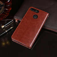 For Huawei Honor 7C AUM-L41 Case 5.7'' Flip Business Wallet Leather Phone Case for Honor 7C Russia Version Cover Accessories