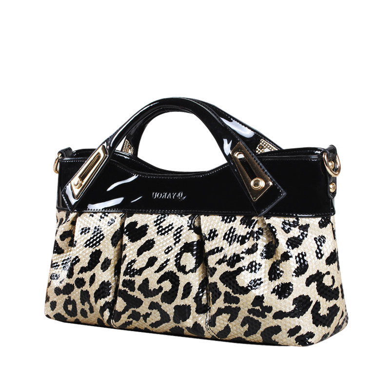 Sexy Leopard print PU Party Evening Bag Women Fashion font b Handbag b font Gorgeous Pleated