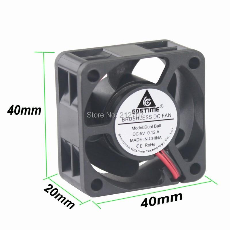 10Pcs Gdstime Ball Bearing 4020 40mm 40x40x20mm 4cm DC 5V 2Pin Computer Cooling Cooler Fan