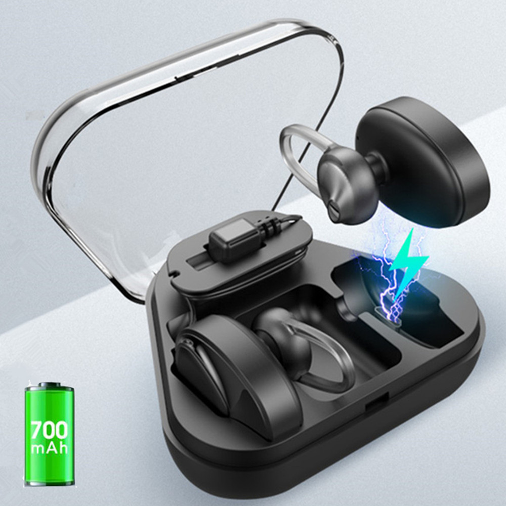 BL02 Mini Wireless Bluetooth 4.2 Stereo Sport Earphones In-ear With Charger box Mic Headsets Earpieces 700mAh Power bank PK BL1 power of unstoppable 10 pk