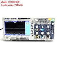 Dso5202p цифровой осциллограф 200 мГц 2 канала, полоса пропускания LED Портативный осциллограф четыре математические