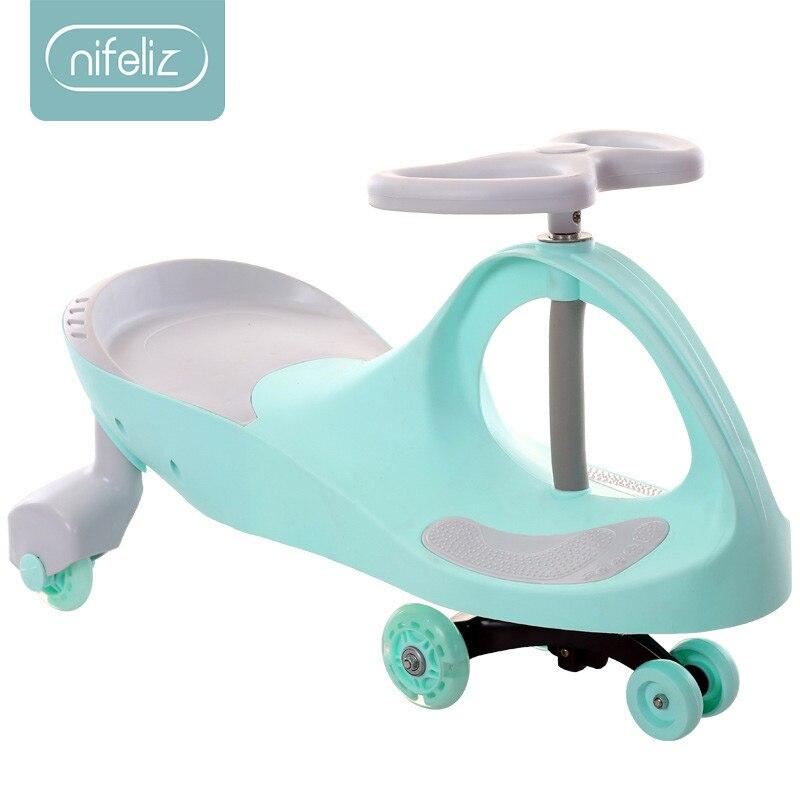 Enfants Twist voiture jouet 1-5 ans bébé voiture Yo-Yo voiture muet rond universel roue balançoire bébé jouet fille garçon voiture