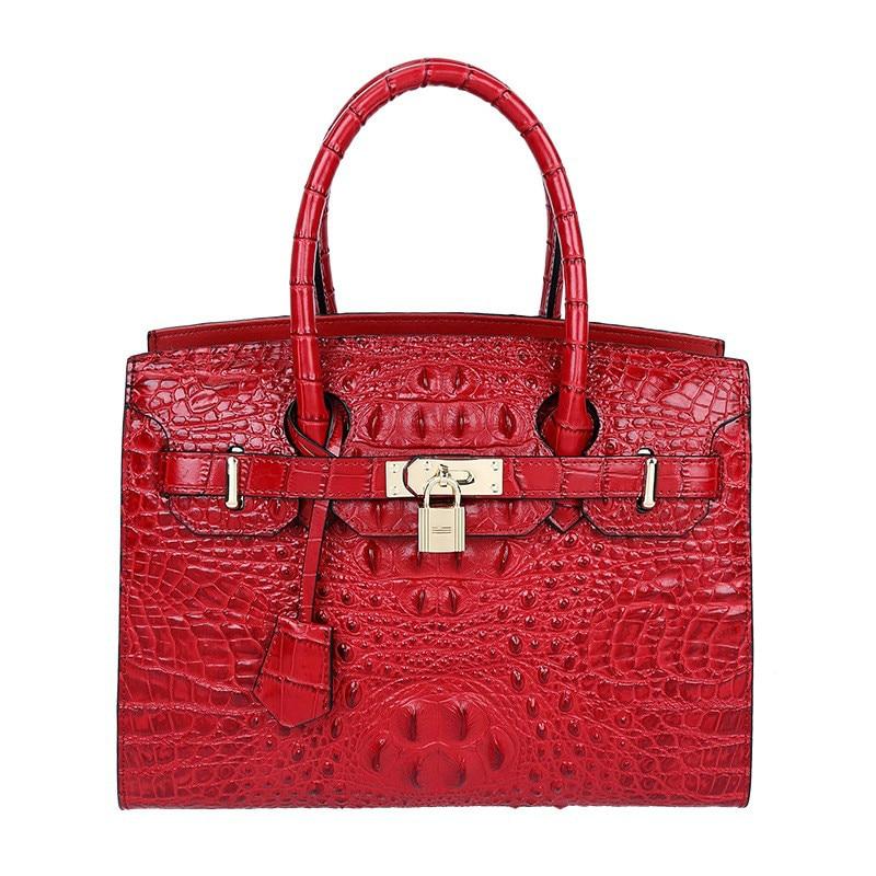 Crocodile Women Bag Luxury Elegant Top Handle Bags Brand Women Designer Handbags 100% Genuine Leather Female Bag Bolsa Feminina toner cartridge for kyocera mita fs 4100dn for kyocera mita fs 4100dn laserjet printer compatible new cartridge free shipping