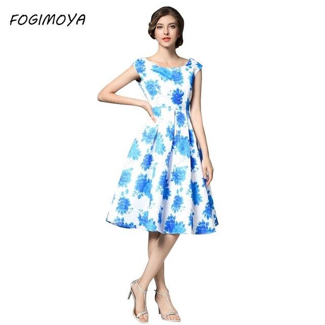 Fogimoya платье женские летние Мода 2017 принт SL A SH шеи линии платья женские Короткие рукава по колено Bodycon Новое платье