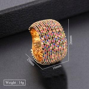 Image 5 - Godki 高級キュービックジルコニアの結婚指輪ブライダル婚約ウェディングジュエリー cz femmale アクセサリー全体指リング